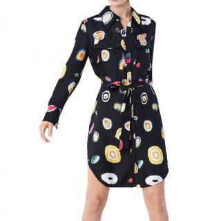 DVF Silk Printed Peyton Jacquard Tunic Dress