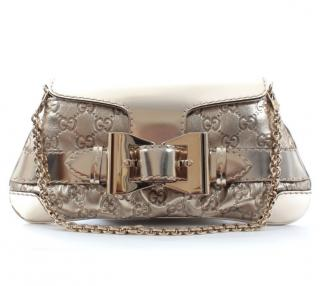 Gucci Metallic Supreme Calfskin Queen Bow Chain Bag
