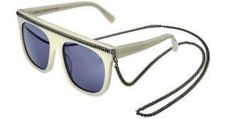 Stella McCartney White Sc0043s 55mm Sunglasses