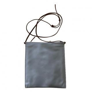 The Row Leather Blue-Gray Medium Medicine Pouch