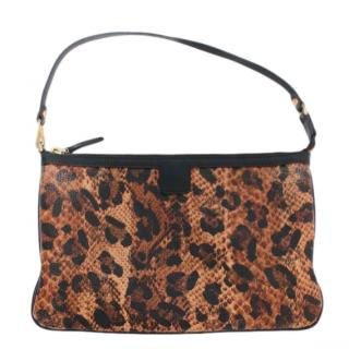 MCM Animal Print Leather Clutch