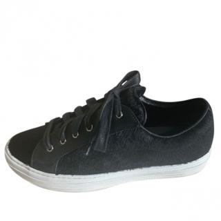 Ferragamo Pony Hair & Leather Sneakers