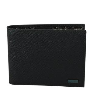 Dolce & Gabbana Charcoal Leather Bi-Fold Wallet