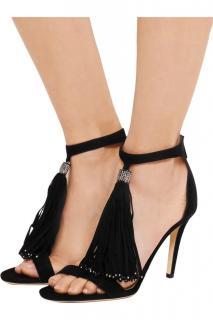 Jimmy Choo Viola crystal-embellished suede sandals