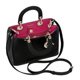 Dior Black/Pink Leather Mini Diorissimo Bag