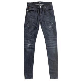 Hudson Skinny Brooklyn Moto Jeans