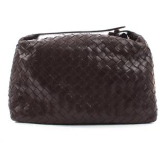 Bottega Veneta Brown Intrecciato Leather Pouch
