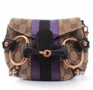 Gucci By Tom Ford Supreme Monogram Horsebit Shoulder Bag