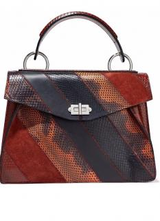 Proenza Schouler Hava paneled ayers, suede and leather shoulder bag
