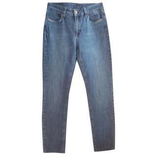 Escada Classic Blue Denim Straight Leg Jeans