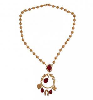 Dolce & Gabbana Sicily Crystal Pendant Necklace