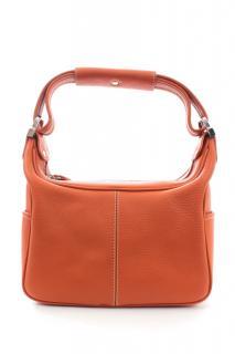 Tod's Orange Leather Shoulder Bag