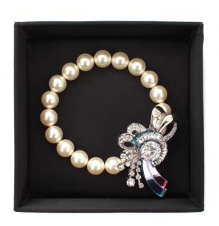 MIu MIu Faux Pearl Crystal Bracelet