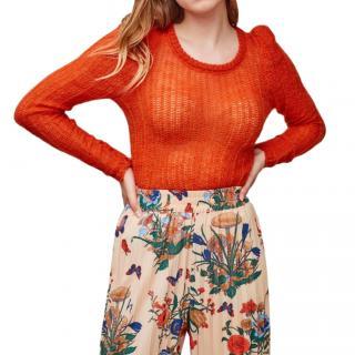 Manoush Orange Pierette Knit Jumper