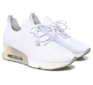 ASH white Knit Lunatic Sneakers
