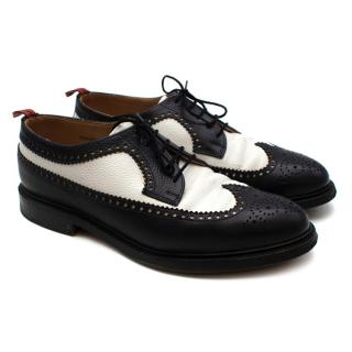 Brooks Brothers Black & White Leather Brogues