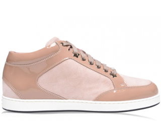 Jimmy Choo Pink Patent Leather/Suede Miami Low Sneakers
