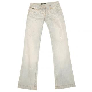 Dolce & Gabbana Swarovski Crystal Embellished Jeans