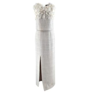 Cruz Bueno Grey Tweed Embellished Skirt & Sleeveless Top