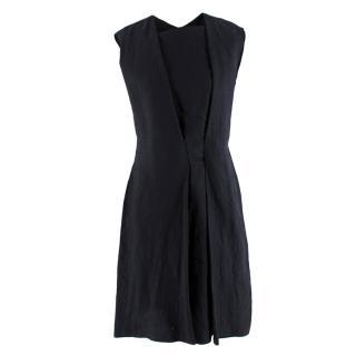 Bottega Veneta Black Pleated Sleeveless Dress