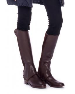 Tory Burch Brown Milburn Leather Riding Boots