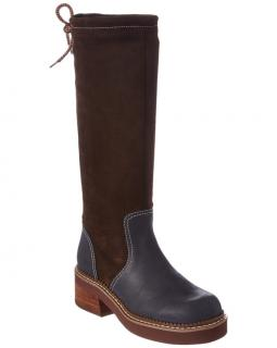 See by Chloe Suede & Leather Drawstring Knee Boots