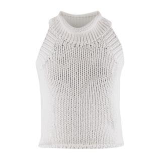 Matthew Williamson White Sleeveless Knit Top