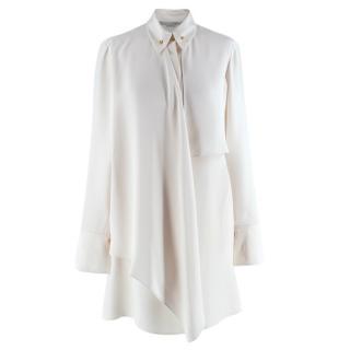 Stella McCartney Ivory Asymmetric Layered Shirt Dress