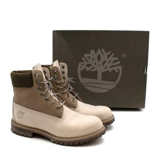 Timberland White/Taupe Mountain Boots