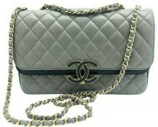 Chanel Grey Two-Tone Paris/Egypt Flap Bag