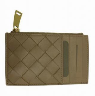 Bottega Veneta Intrecciato Leather Zip Card Holder