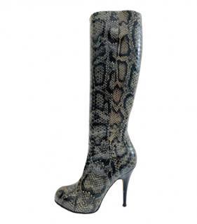 Giuseppe Zanotti Natural Python Boots