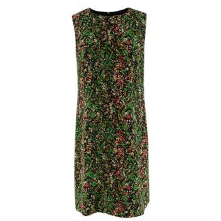 M Missoni Green Printed Sleeveless Shift Dress