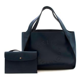 Stella McCartney Navy Logo Tote Bag