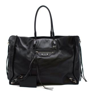 Balenciaga Black Leather City Tote Bag