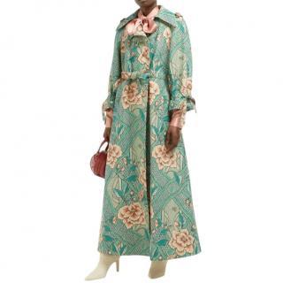 Gucci Loraine floral-print linen and cotton-blend coat