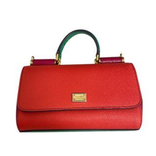 Dolce & Gabbana Red/Green Sicily Von Bag