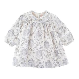 Bonpoint Cream Flower Pattern Tunic