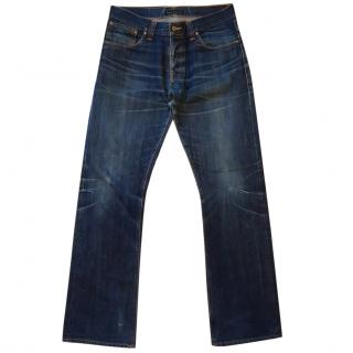 Nudie Mens Classic Blue Jeans