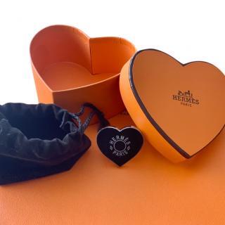 Hermes Valentines 2020 Black Heart Scarf Ring