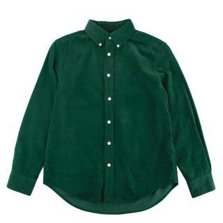 Ralph Lauren Green Corduroy Long Sleeve Shirt