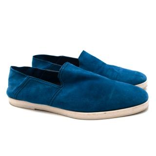 Berluti Blue Suede Loafers