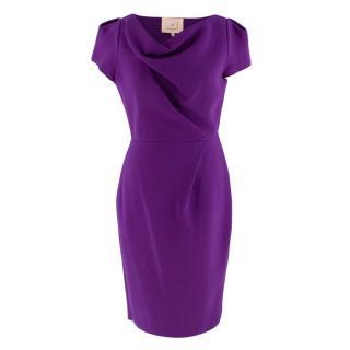 Roksanda Ilincic Purple Wool Short Sleeve Dress