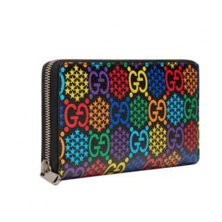 Gucci psychedelic monogram zip-around wallet