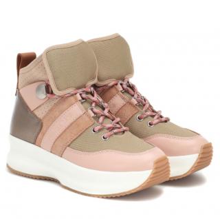 Chloe Chunky Pink High Top Sneakers