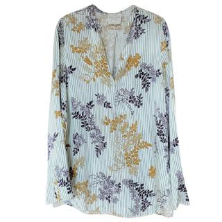 Forte Forte Striped Floral Print Blouse