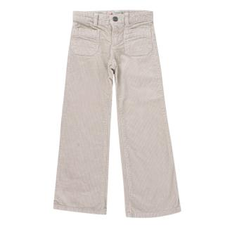Bonpoint Beige Corduroy Flared Trousers