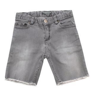 Bonpoint Grey Distressed Denim Shorts