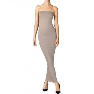 Wolford Taupe Jersey Fatal Dress