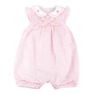 Beatrice & George Pink Gingham Cotton Shortie